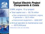 typical electric project components costs