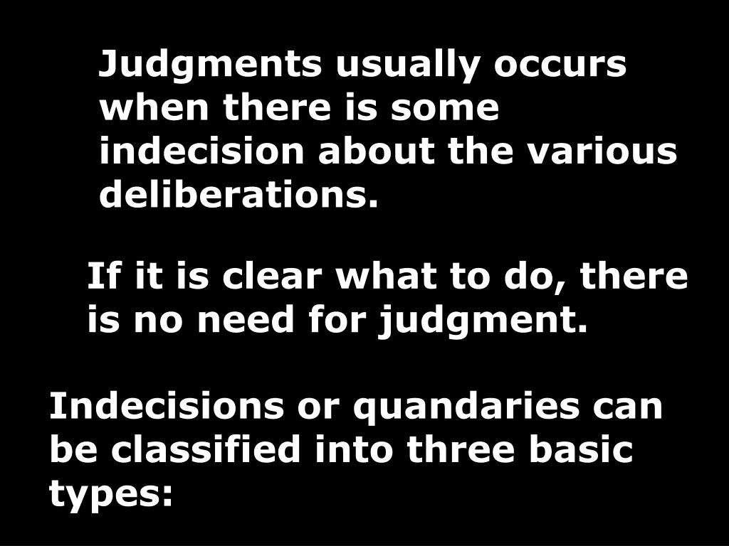 Judgments usually occurs