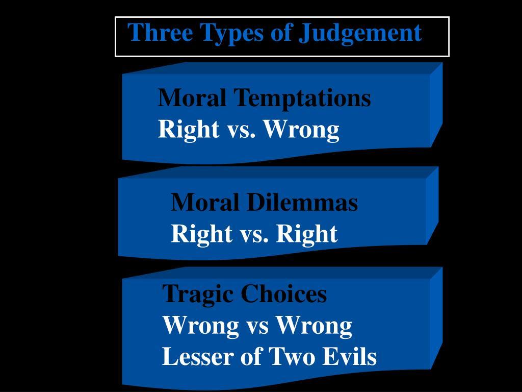 Three Types of Judgement
