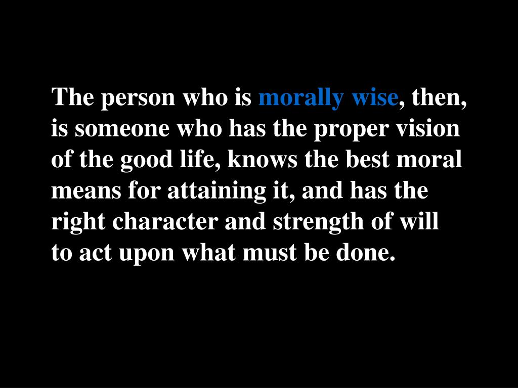 The person who is