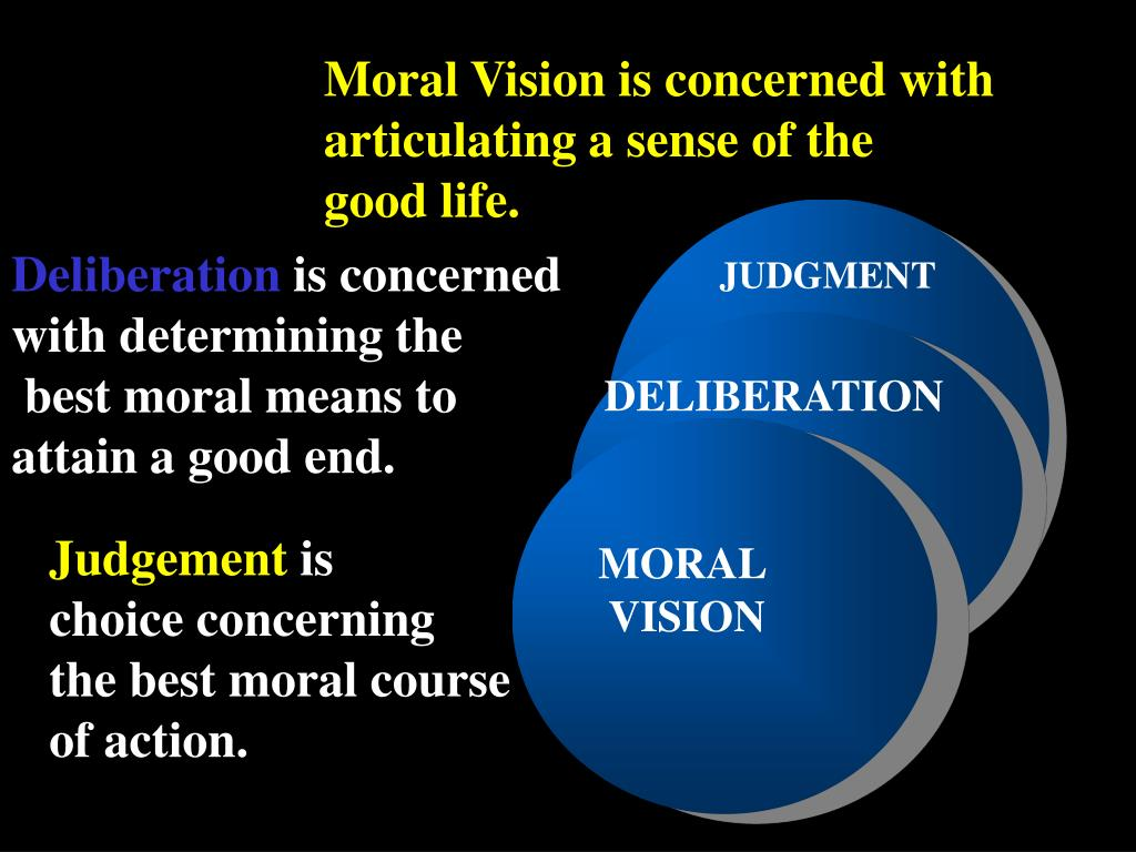 Moral Vision is concerned with