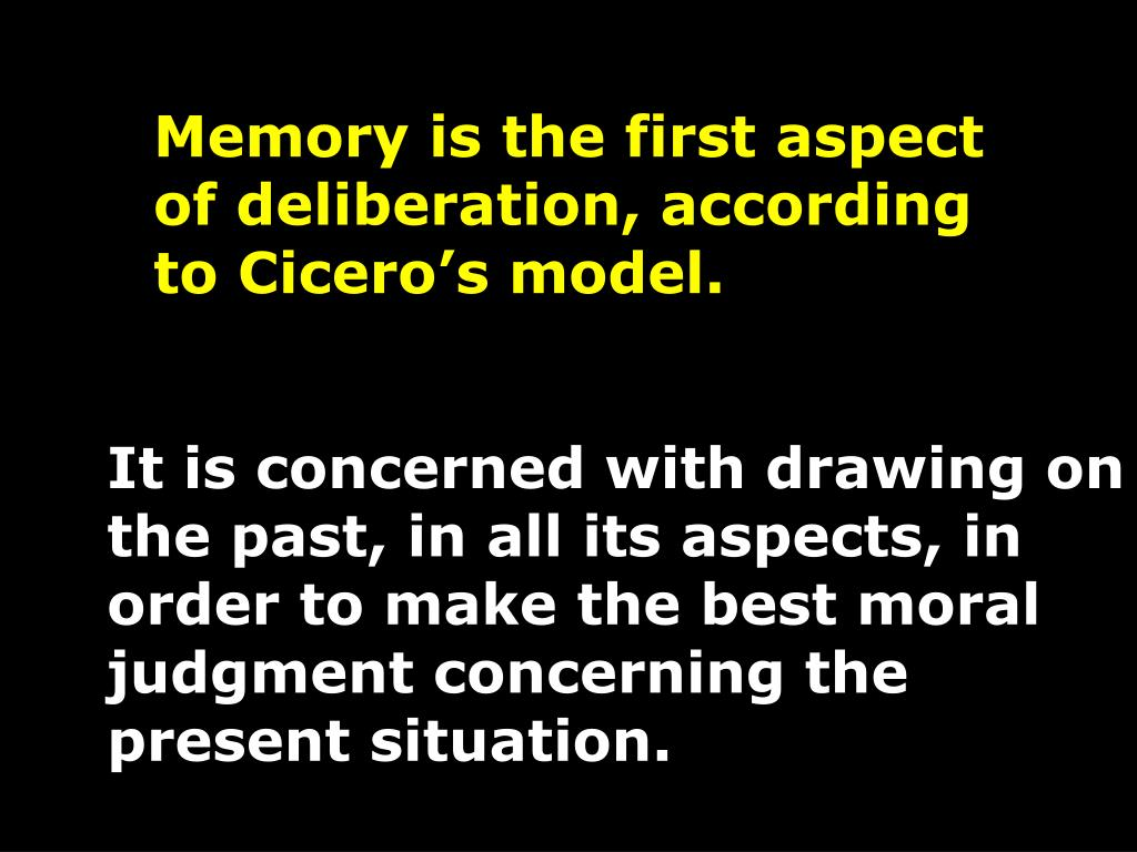 Memory is the first aspect