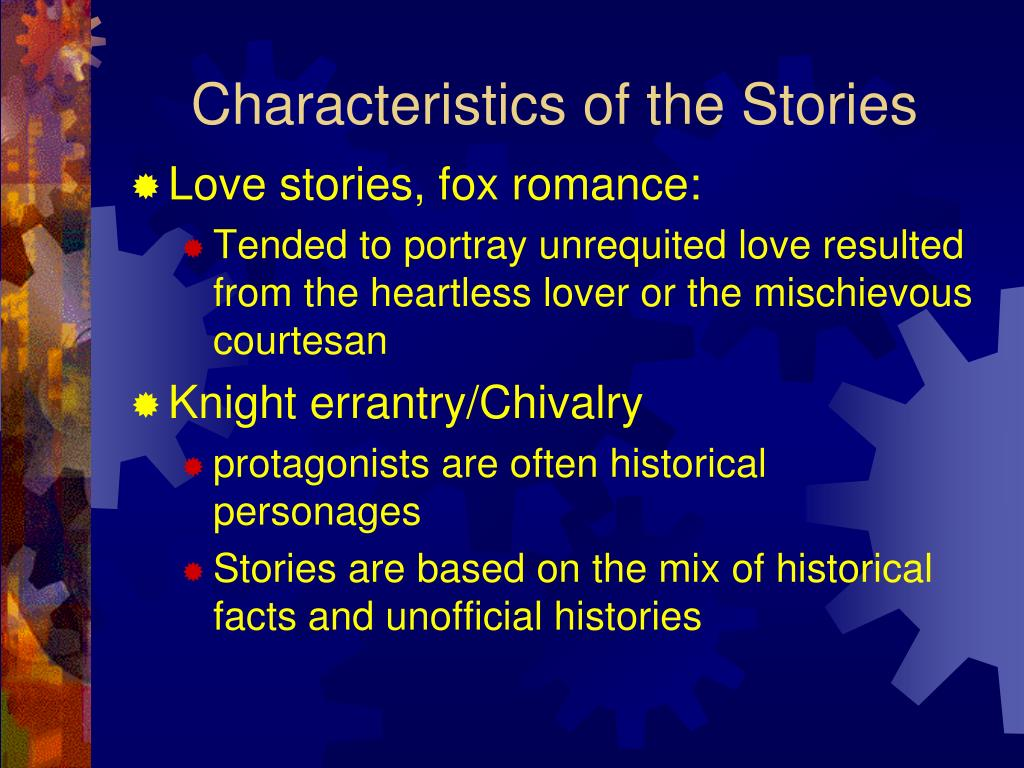 Characteristics of the Stories