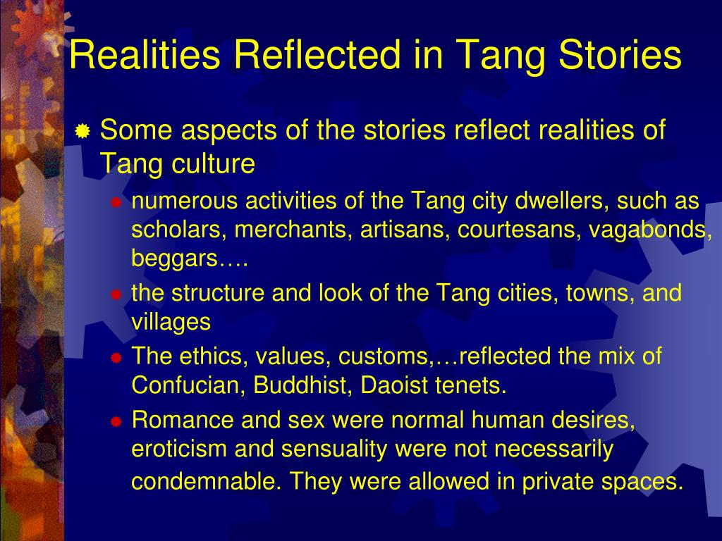 Realities Reflected in Tang Stories