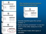 one hundred and sixty teachers returned the questionnaire