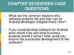chapter seventeen case questions1