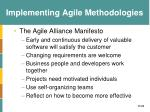 implementing agile methodologies