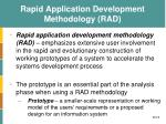 rapid application development methodology rad
