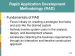 rapid application development methodology rad1