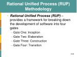 rational unified process rup methodology