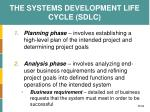 the systems development life cycle sdlc1