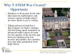 why t stem was created opportunity
