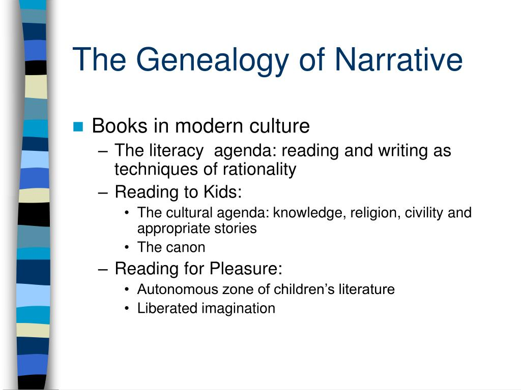The Genealogy of Narrative