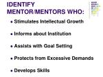 identify mentor mentors who1