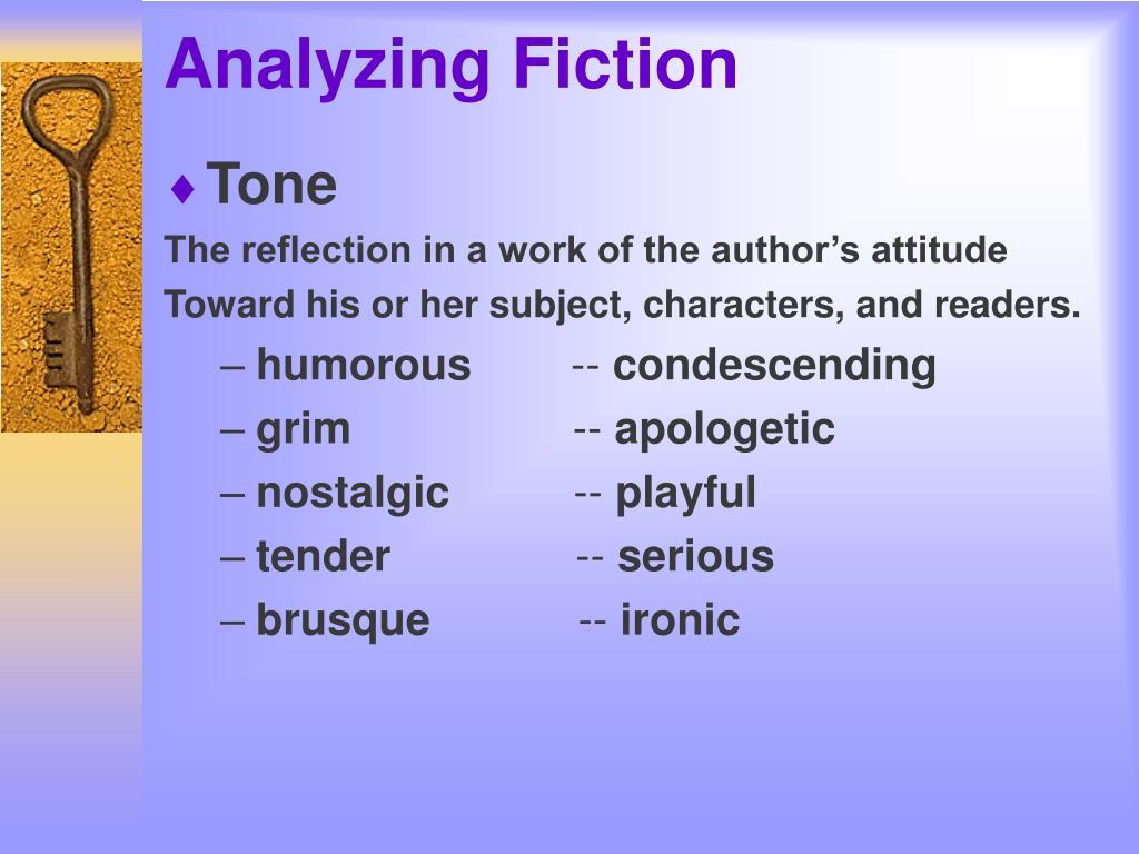 Analyzing Fiction
