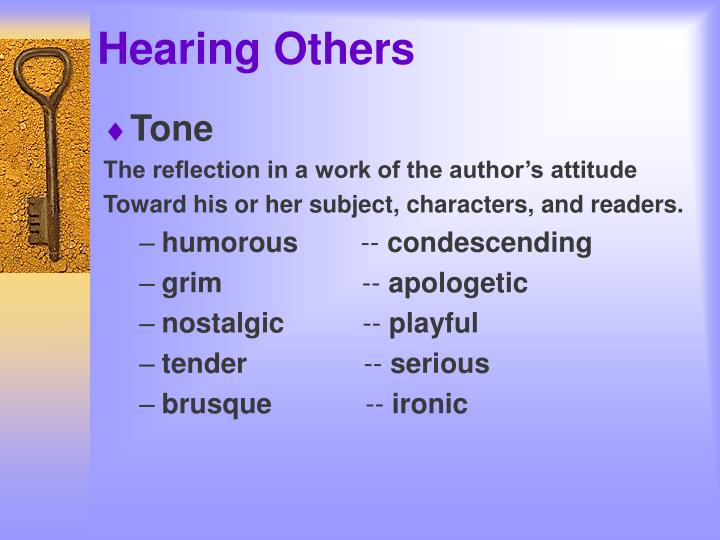 Hearing others