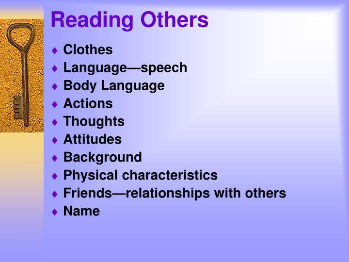 Reading others