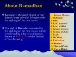 about ramadhan