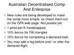 australian decentralised comp and enterprise