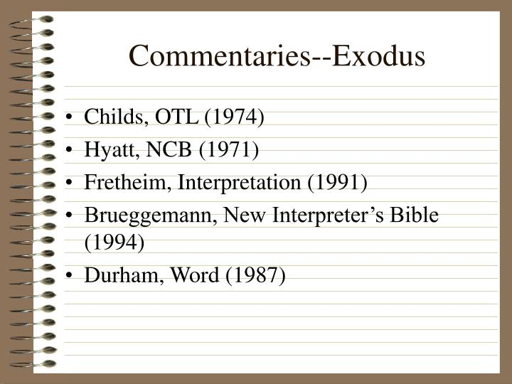commentaries exodus n.