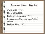 commentaries exodus