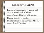 genealogy of aaron