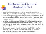 the distinction between the mand and the tact
