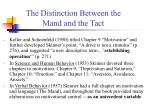 the distinction between the mand and the tact1