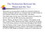 the distinction between the mand and the tact4