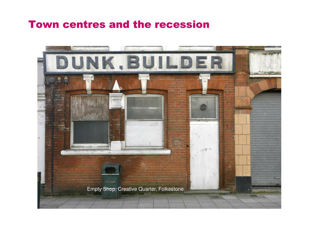 Town centres and the recession