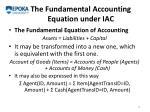 the fundamental accounting equation under iac