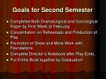 goals for second semester