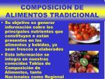 composici n de alimentos tradicional
