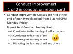 conduct improvement 1 or 2 in conduct on report card