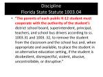discipline florida state statute 1003 041