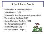 school social events