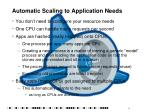 automatic scaling to application needs