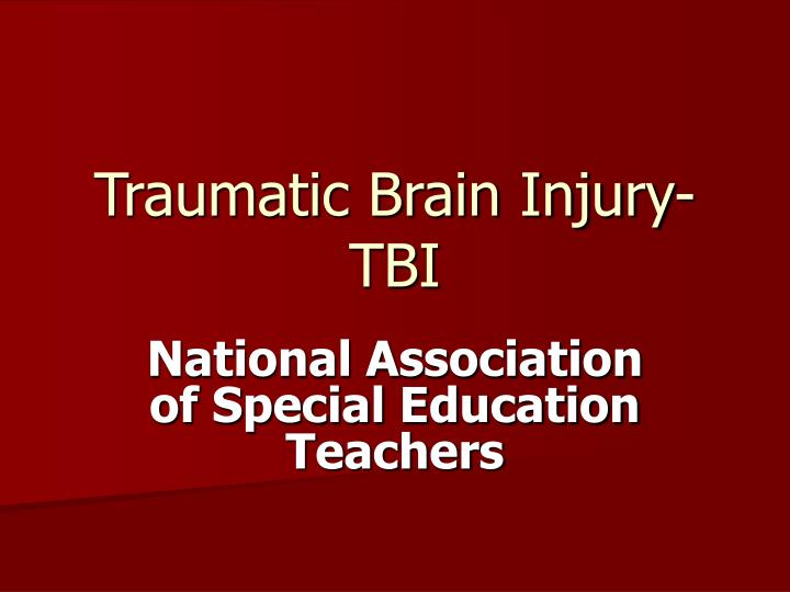 traumatic brain injury tbi n.