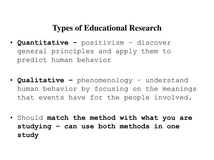 what are the two types of research