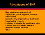advantages of ehr