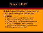 goals of ehr