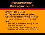standardization nursing in the u s
