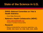 state of the science in u s