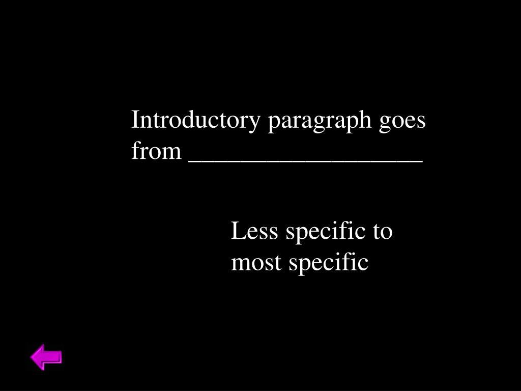Introductory paragraph goes