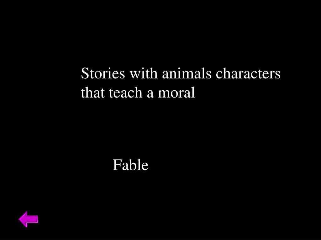 Stories with animals characters
