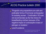 acog practice bulletin 2000