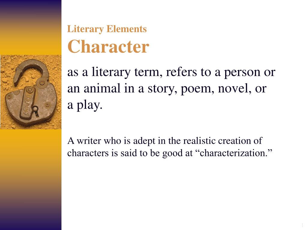 literary elements character