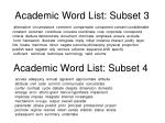 academic word list subset 3