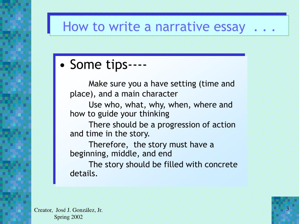 How to write a narrative essay  . . .