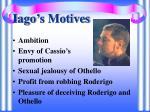 iago s motives